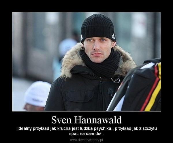 Sven Hannawald –  idealny przykład jak krucha jest ludzka psychika.. przykład jak z szczytuspać na sam dół..