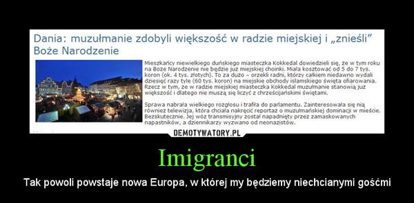 Imigranci – Tak powoli powstaje nowa Europa, w której my będziemy niechcianymi gośćmi