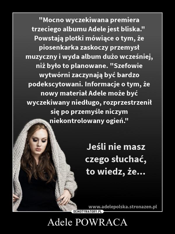 Adele POWRACA –