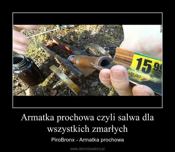 Armatka prochowa czyli salwa dla wszystkich zmarłych – PiroBronx - Armatka prochowa