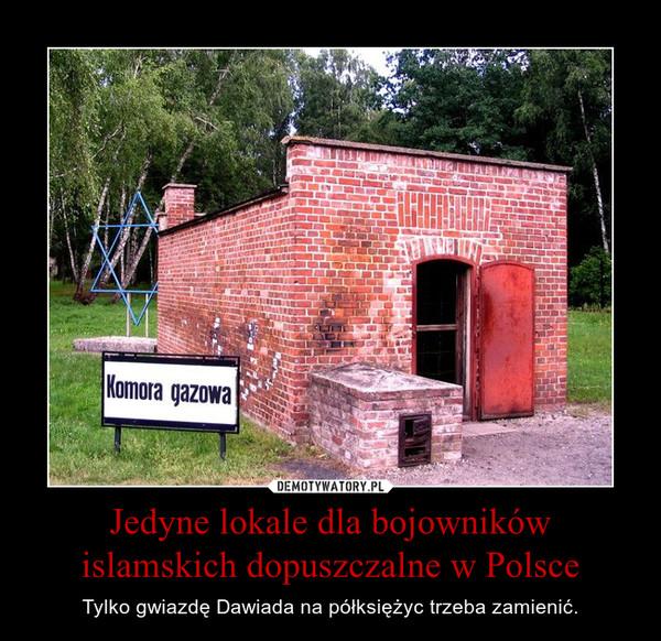 Jedyne lokale dla bojowników islamskich dopuszczalne w Polsce – Tylko gwiazdę Dawiada na półksiężyc trzeba zamienić.