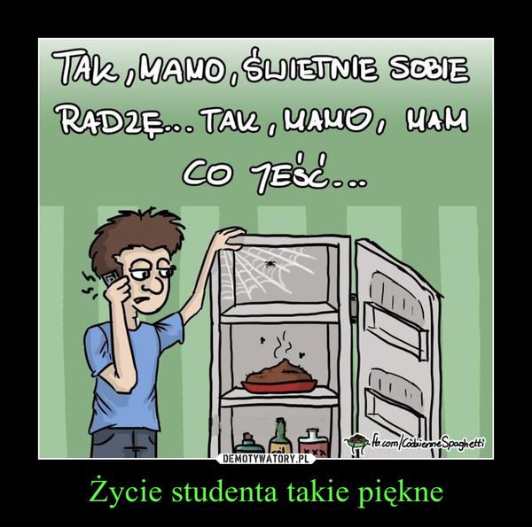 Życie studenta takie piękne –
