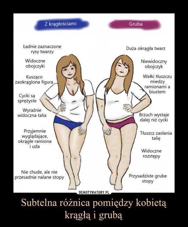 Subtelna różnica pomiędzy kobietą krągłą i grubą –