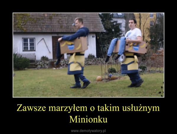 Zawsze marzyłem o takim usłużnym Minionku –