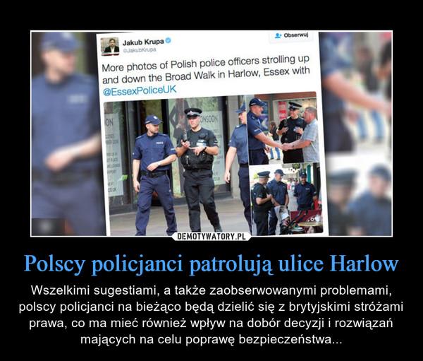 Polscy policjanci patrolują ulice Harlow – Wszelkimi sugestiami, a także zaobserwowanymi problemami, polscy policjanci na bieżąco będą dzielić się z brytyjskimi stróżami prawa, co ma mieć również wpływ na dobór decyzji i rozwiązań mających na celu poprawę bezpieczeństwa...