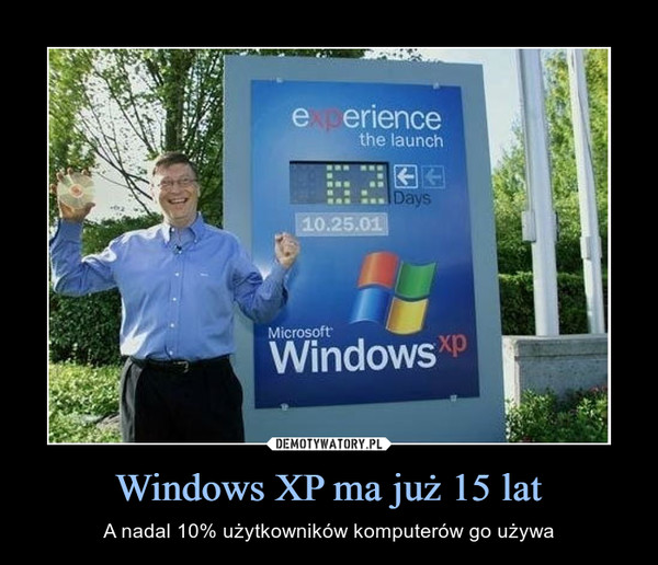 Windows XP ma już 15 lat – A nadal 10% użytkowników komputerów go używa