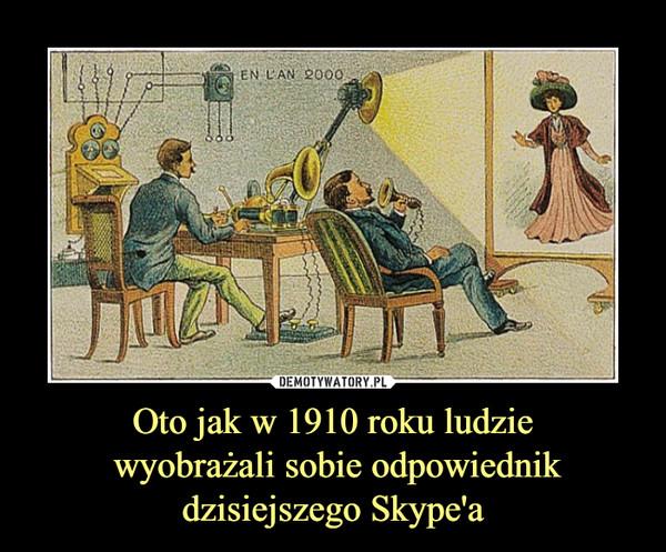 Oto jak w 1910 roku ludzie wyobrażali sobie odpowiednikdzisiejszego Skype'a –