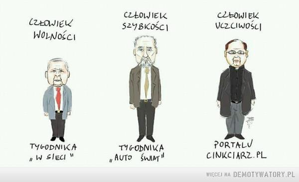 Nagrodzeni –  człowiek wolności człowiek szybkości człowiek uczciwości tygodnika w sieci tygodnika auto świat portalu cinkciarz.pl
