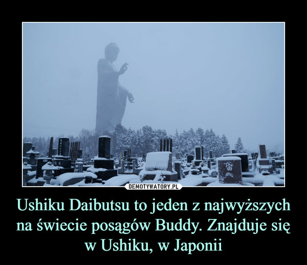 Ushiku Daibutsu to jeden z najwyższych na świecie posągów Buddy. Znajduje się w Ushiku, w Japonii –