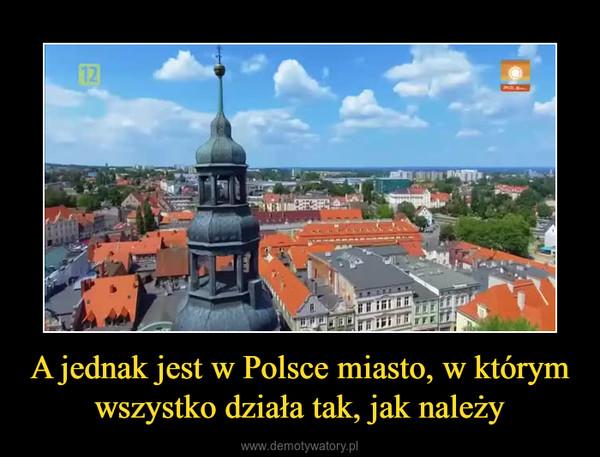 A jednak jest w Polsce miasto, w którym wszystko działa tak, jak należy –