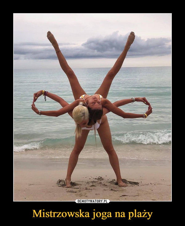 Mistrzowska joga na plaży –