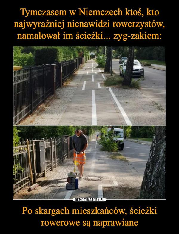 Po skargach mieszkańców, ścieżki rowerowe są naprawiane –