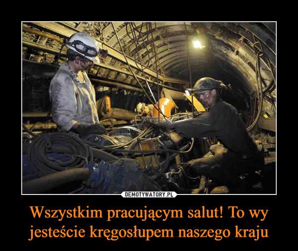 Wszystkim pracującym salut! To wy jesteście kręgosłupem naszego kraju –