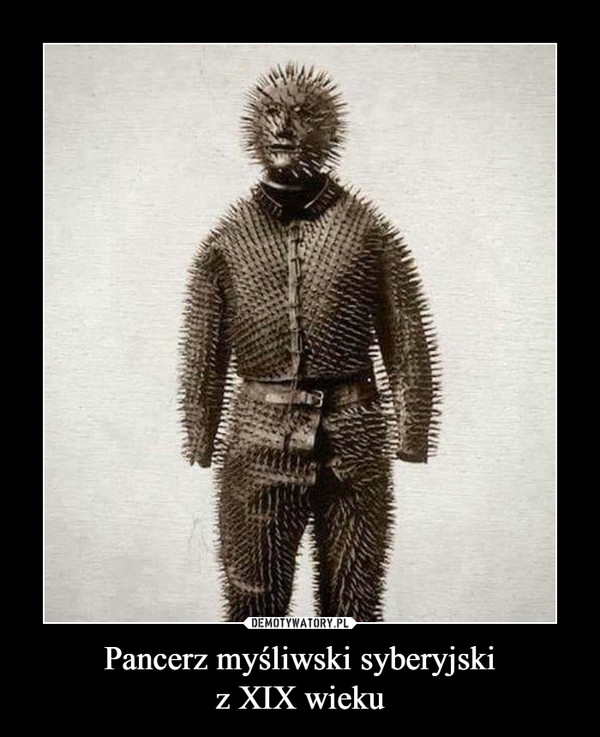 Pancerz myśliwski syberyjskiz XIX wieku –