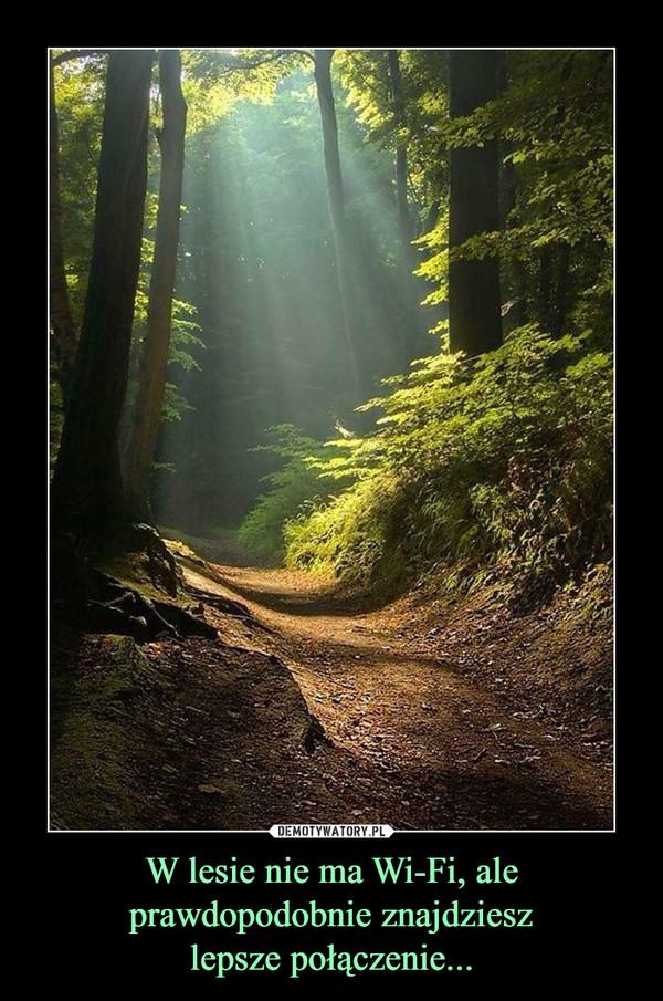 W lesie nie ma Wi-Fi, ale prawdopodobnie znajdzieszlepsze połączenie... –