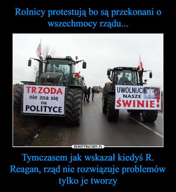 Tymczasem jak wskazał kiedyś R. Reagan, rząd nie rozwiązuje problemów tylko je tworzy –