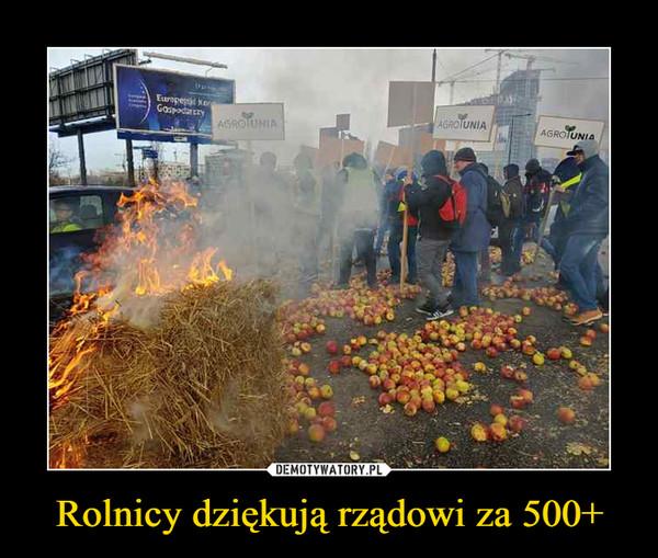 Rolnicy dziękują rządowi za 500+ –