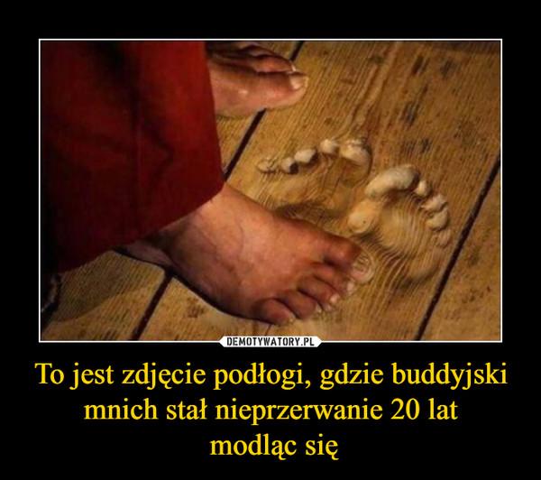 To jest zdjęcie podłogi, gdzie buddyjski mnich stał nieprzerwanie 20 lat modląc się –