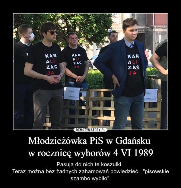Młodzieżówka PiS w Gdańsku  w rocznicę wyborów 4 VI 1989