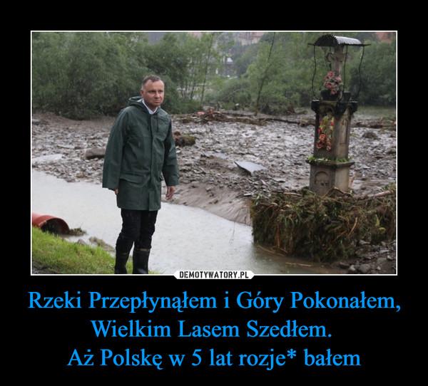 Rzeki Przepłynąłem i Góry Pokonałem, Wielkim Lasem Szedłem. Aż Polskę w 5 lat rozje* bałem –