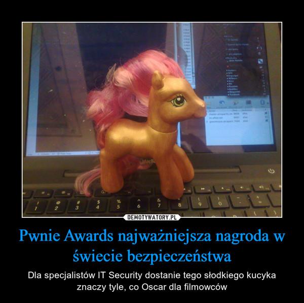 Pwnie Awards najważniejsza nagroda w świecie bezpieczeństwa – Dla specjalistów IT Security dostanie tego słodkiego kucyka znaczy tyle, co Oscar dla filmowców