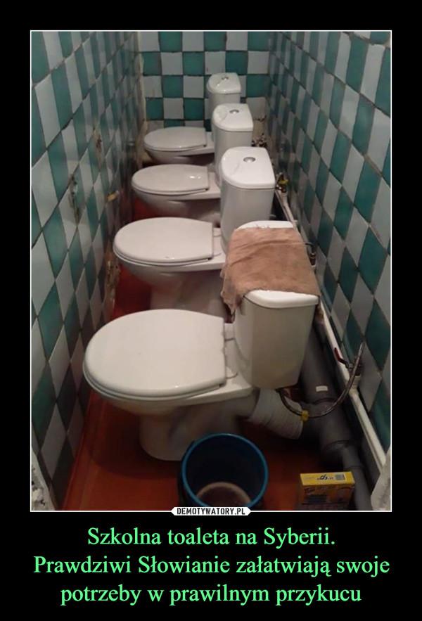 Szkolna toaleta na Syberii.Prawdziwi Słowianie załatwiają swoje potrzeby w prawilnym przykucu –
