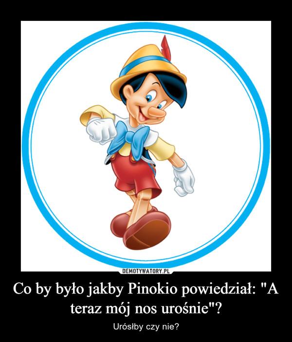"""Co by było jakby Pinokio powiedział: """"A teraz mój nos urośnie""""? – Urósłby czy nie?"""