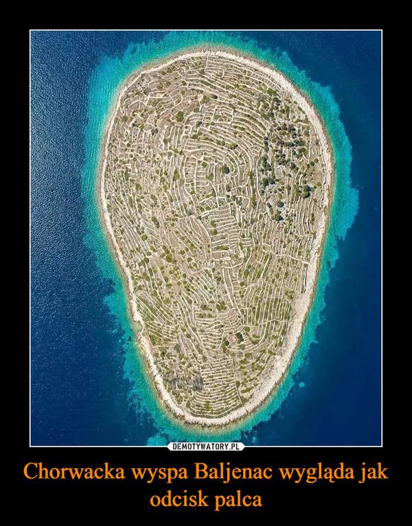 Chorwacka wyspa Baljenac wygląda jak odcisk palca –