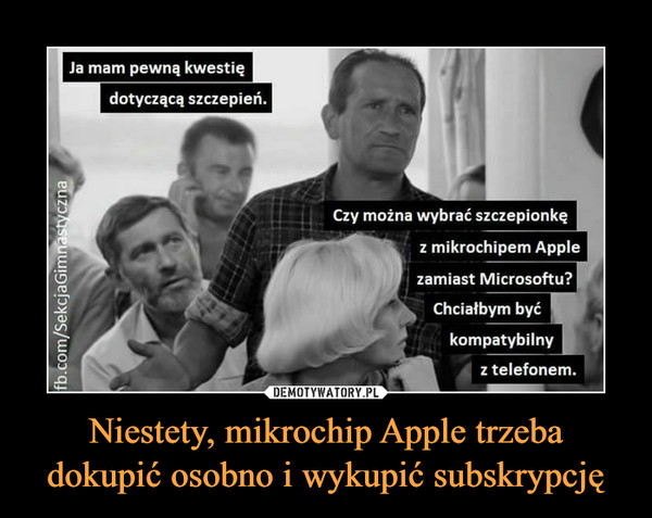 Niestety, mikrochip Apple trzeba dokupić osobno i wykupić subskrypcję –