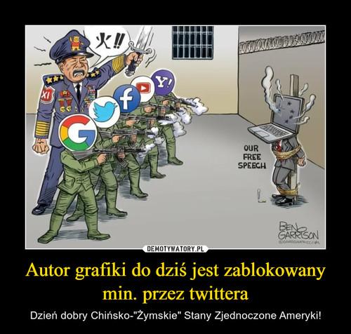 Autor grafiki do dziś jest zablokowany min. przez twittera