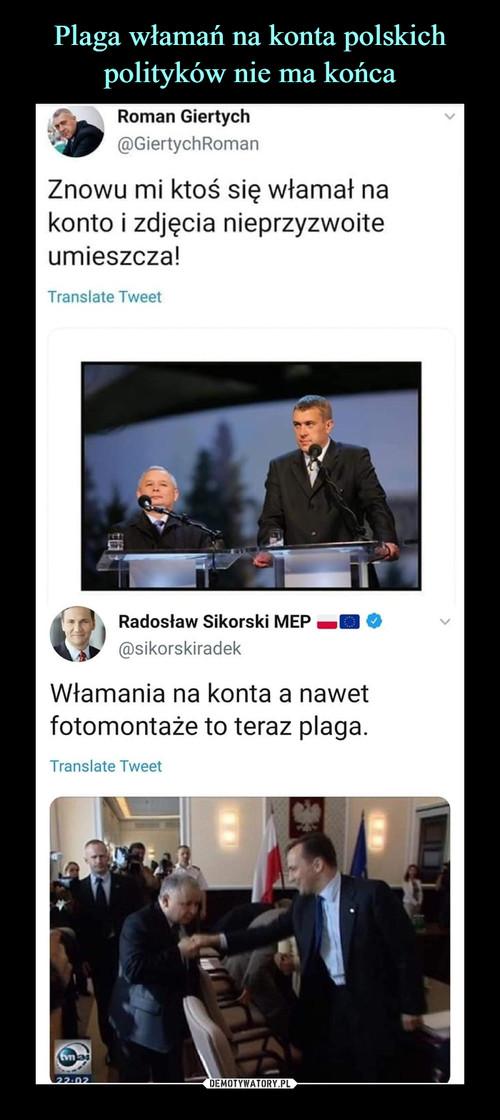 Plaga włamań na konta polskich polityków nie ma końca