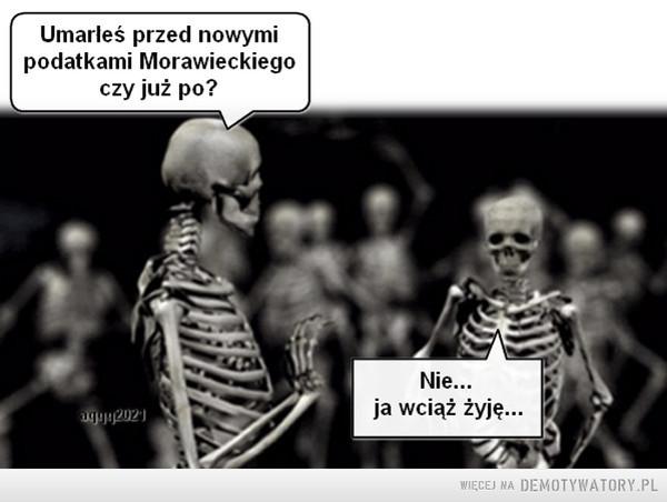 Najbliższa przyszłość –  Umarleś przed nowymipodatkami Morawieckiegoczy już po?Nie...agyu2021ja wciąż żyję...