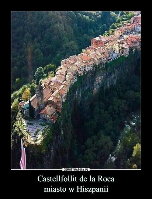 Castellfollit de la Roca miasto w Hiszpanii