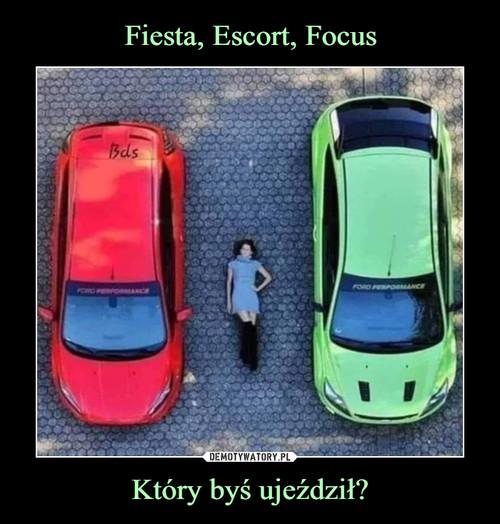Fiesta, Escort, Focus Który byś ujeździł?
