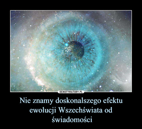 Nie znamy doskonalszego efektu ewolucji Wszechświata od  świadomości