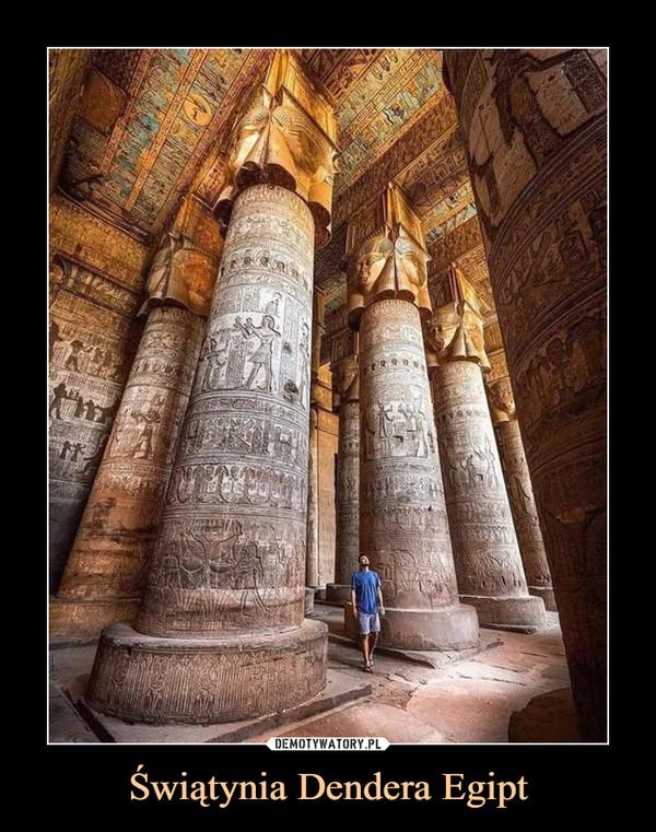 Świątynia Dendera Egipt –