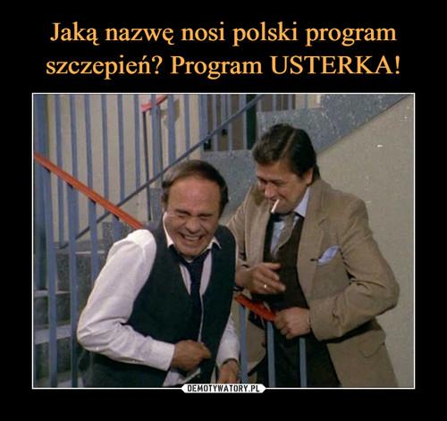 Jaką nazwę nosi polski program szczepień? Program USTERKA!