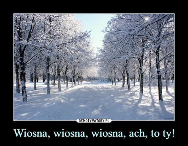Wiosna, wiosna, wiosna, ach, to ty! –