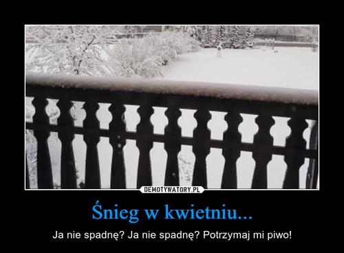 Śnieg w kwietniu...