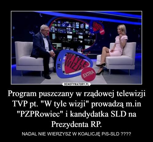 """Program puszczany w rządowej telewizji TVP pt. """"W tyle wizji"""" prowadzą m.in """"PZPRowiec"""" i kandydatka SLD na Prezydenta RP."""