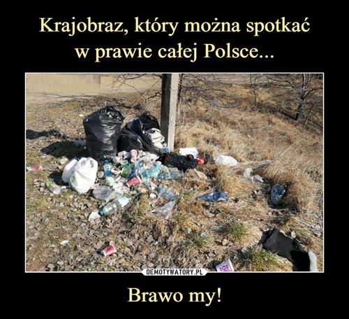 Krajobraz, który można spotkać w prawie całej Polsce... Brawo my!