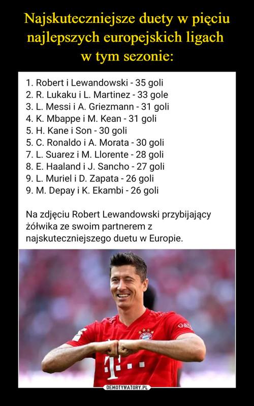 Najskuteczniejsze duety w pięciu najlepszych europejskich ligach  w tym sezonie: