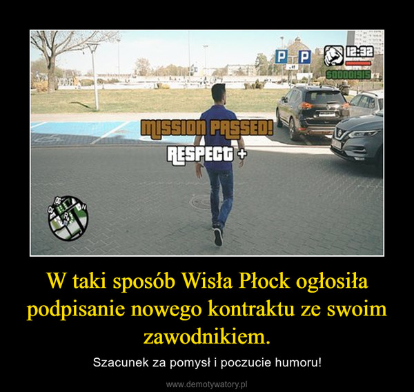 W taki sposób Wisła Płock ogłosiła podpisanie nowego kontraktu ze swoim zawodnikiem. – Szacunek za pomysł i poczucie humoru!