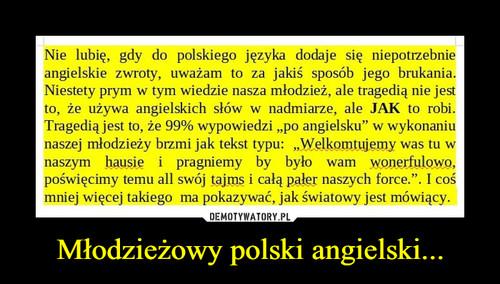 Młodzieżowy polski angielski...