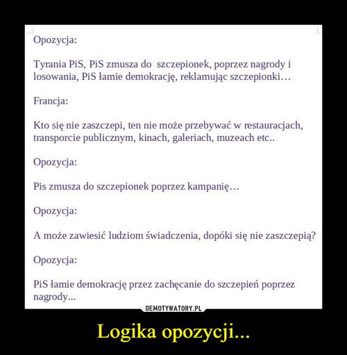 Logika opozycji...