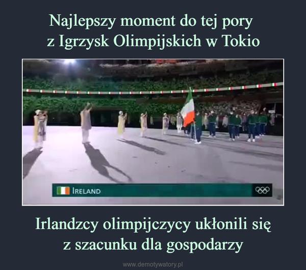 Irlandzcy olimpijczycy ukłonili sięz szacunku dla gospodarzy –