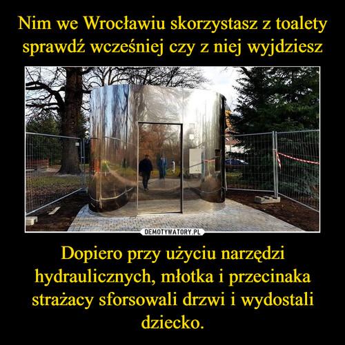 Nim we Wrocławiu skorzystasz z toalety sprawdź wcześniej czy z niej wyjdziesz Dopiero przy użyciu narzędzi hydraulicznych, młotka i przecinaka strażacy sforsowali drzwi i wydostali dziecko.