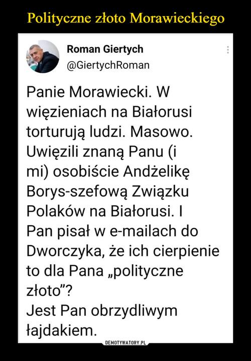 Polityczne złoto Morawieckiego