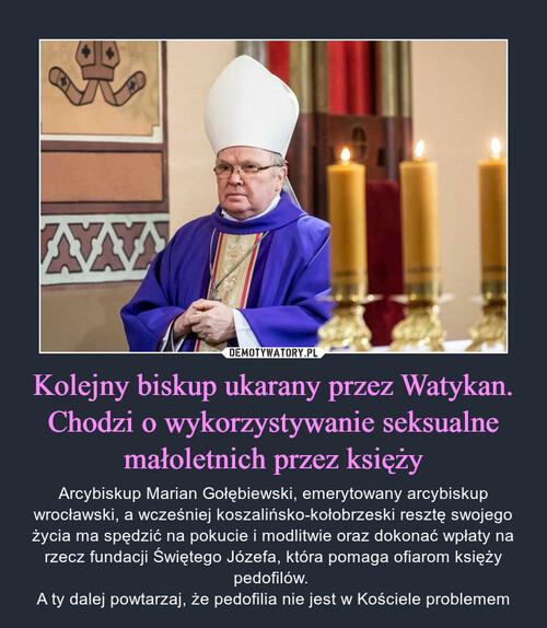Kolejny biskup ukarany przez Watykan. Chodzi o wykorzystywanie seksualne małoletnich przez księży