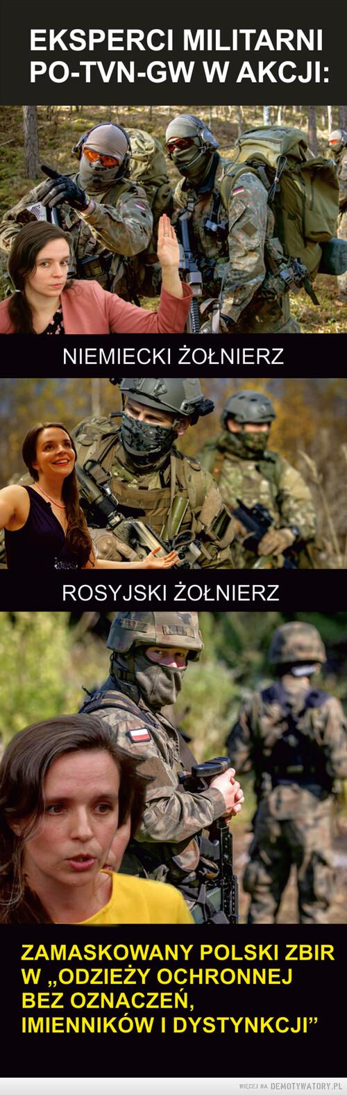 Eksperci wojskowi PO-TVN-GW w akcji